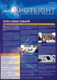 Spotlight 1-2013: GrECo bildet Zukunft