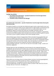 Spotlight Tipp 29/2011 Gesundheitsrisiko Lebensmittel ... - GrECo