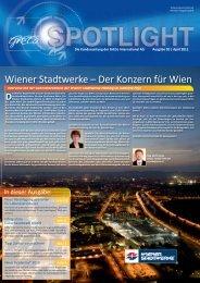 Spotlight 2-2011: Wiener Stadtwerke - der Konzern für Wien! - GrECo
