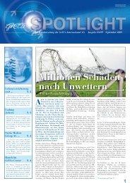 Spotlight 3-2009: Millionen Schäden nach Unwettern - GrECo