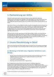 GrECo Dienstleistung im Vergaberecht