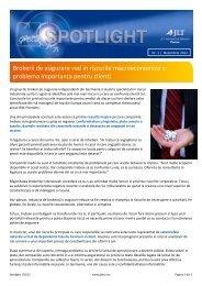 Brokerii de asigurare vad in riscurile macroeconomice o ... - GrECo