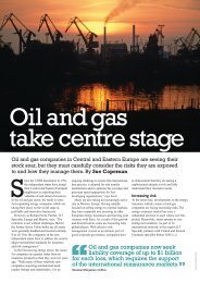 Oil and gas companies now seek liability coverage of up to ... - GrECo