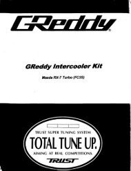 1987-89 Mazda RX7 / Type18R - GReddy