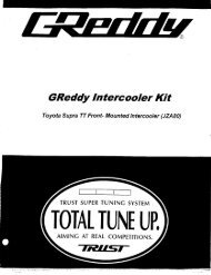 1993-97 Toyota Supra TT / Type23R - GReddy