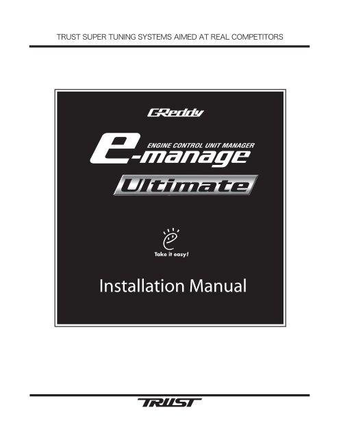 e-Manage Ultimate Installation Manual - GReddy