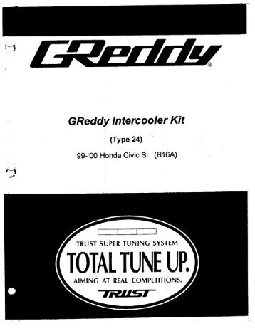 1999-00 Honda Civic Si / Type24V - GReddy
