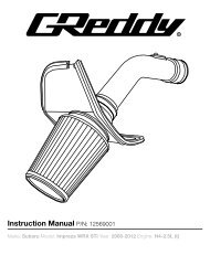 Instruction Sheet - GReddy