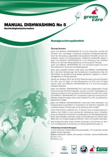MANUAL DISHWASHING No 5 - Green Care