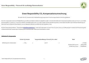 Green Responsibility CO2-Kompensationsumrechnung