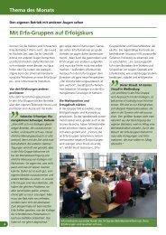 Mit Erfa-Gruppen auf Erfolgskurs - greenworks