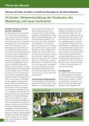 1A Garten: Weiterentwicklung der Strukturen, des ... - greenworks