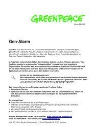 Gen-Alarm-Liste 23.09.2009 - GreenAction