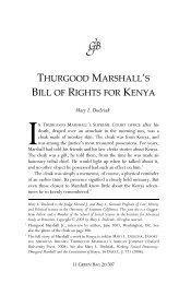 Thurgood Marshall's Bill of Rights for Kenya - The Green Bag