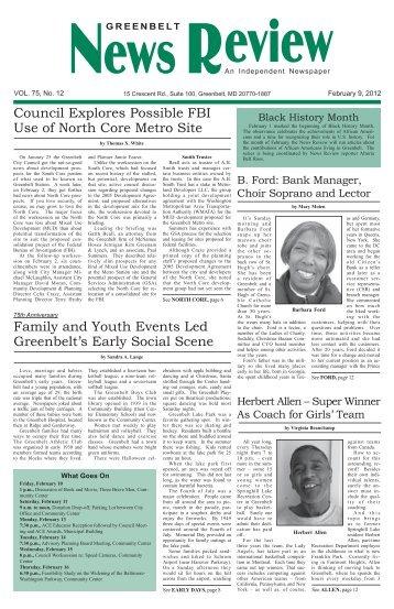 February 9 - Greenbelt News Review