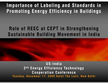 Importance of Labeling and Standards in Promoting Energy ...