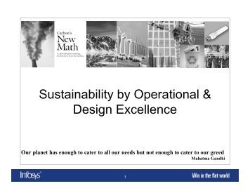 Sustainability by Operational & Design Excellence