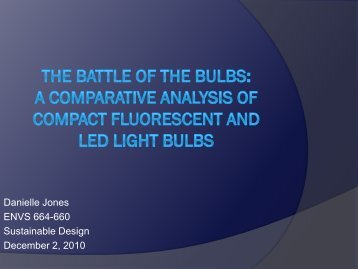 The Battle of the Bulbs - Greendesignetc.net