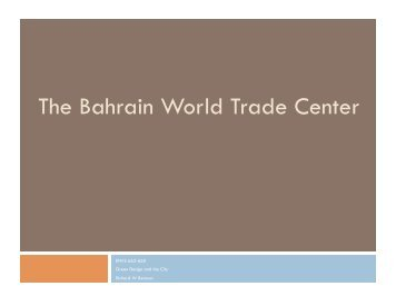 The Bahrain World Trade Center - EcoRussia.info