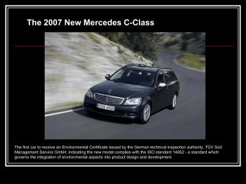 The 2007 New Mercedes C-Class - Greendesignetc.net