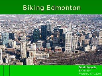 Biking Edmonton - Green Design Etc