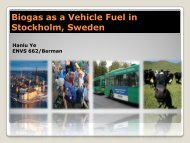 Biogas as a Vehicle Fuel in Stockholm, Sweden - Greendesignetc.net