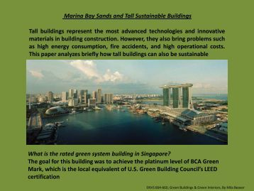 Marina Bay Sands and Tall Sustainable Buildings - Greendesignetc ...