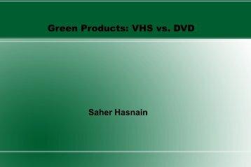 Green Products: VHS vs. DVD - Greendesignetc.net