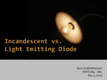 Incandescent vs. Light Emitting Diode - Green Design Etc
