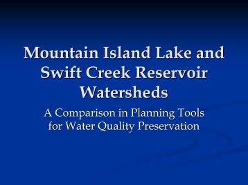 Mountain Island Lake and Swift Creek Reservoir Watersheds