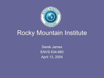 Rocky Mountain Institute - Greendesignetc.net
