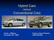 Hybrid Cars Conventional Cars - Greendesignetc.net