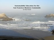 Sustainability Education for the San Francisco ... - Green Design Etc