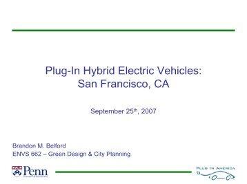 Plug-In Hybrid Electric Vehicles - Greendesignetc.net