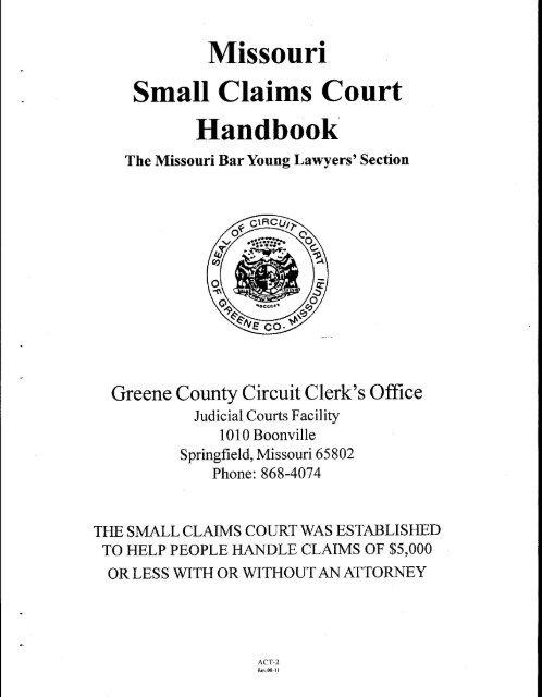Small Claims Court - Greene County, Missouri