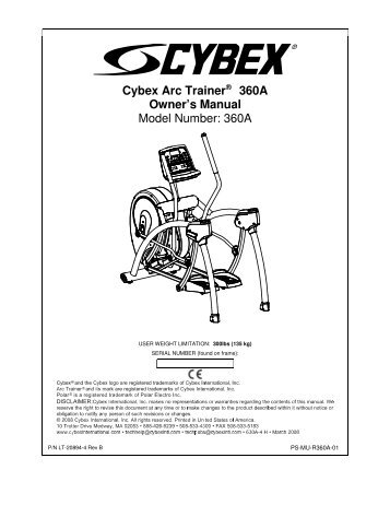 Case study: a Cybex Arc Trainer power endurance protocol
