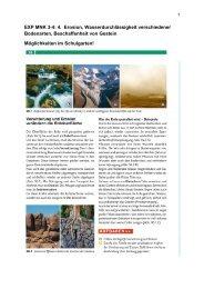 EXP MNK 3-4: 4. Erosion, Wasserdurchlässigkeit verschiedener ...