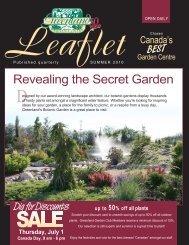 Leaflet - Greenland Garden Centre