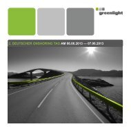 2. deutscher onshoring tag am 06.06.2013 - Greenlight Consulting