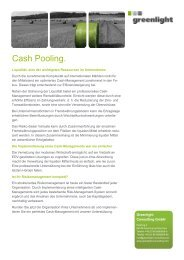 Cash Pooling. - Greenlight Consulting