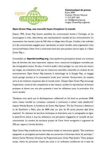 OGM PR French Post launch 06-09 - Green Map System
