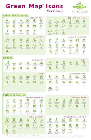 Green Map Icons Poster - Green Map System