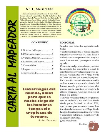 Cuba Newsletter 2003 - Green Map System