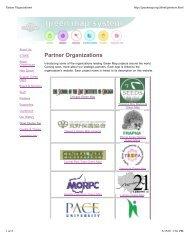 Partner Organizations - Green Map System