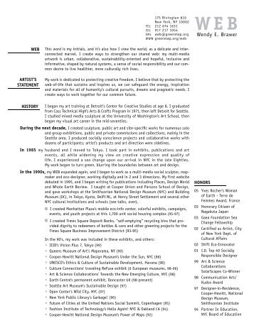 Art Resume - Green Map System