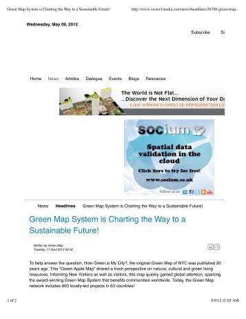 Green Map System is Charting the Way to a Sustainable Future!