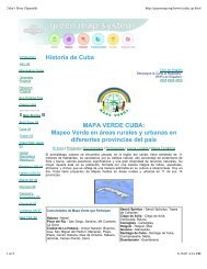 MAPA VERDE CUBA - Green Map System