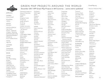 Green Map projects - Green Map System