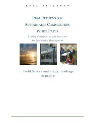 Real Returns for Sustainable Communities - Green Map System