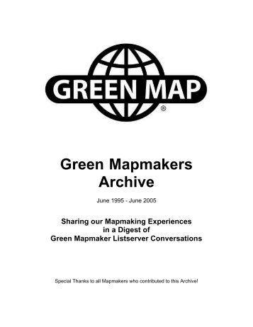 Table of Contents - Green Map System